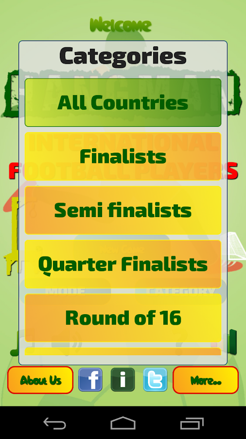 Hangman Intl' Football Players - screenshot