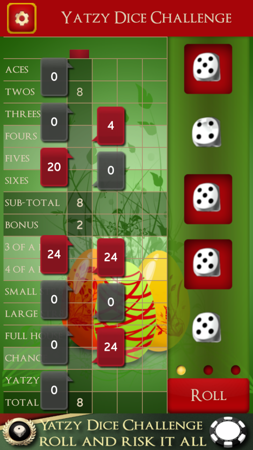 Yatzy Dice Challenge- screenshot