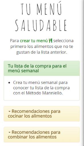 Método Manniello Menú salud
