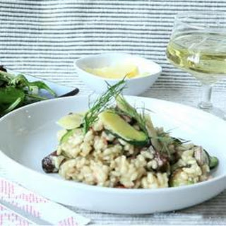 Mushroom, Courgette And Bacon Risotto.
