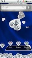 Screenshot of Diamond Hearts Gem Theme
