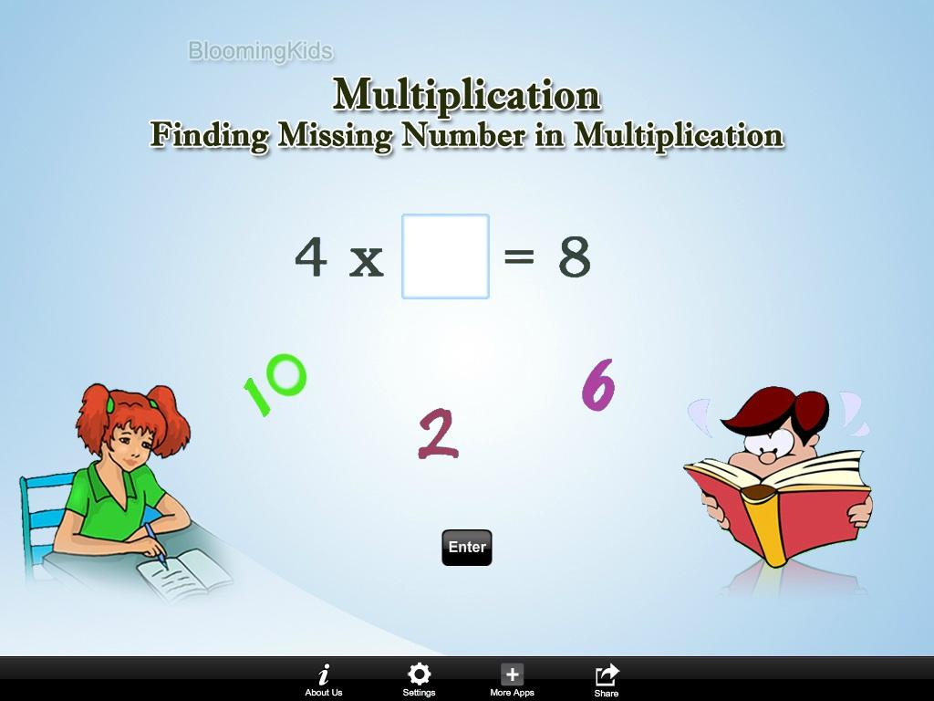 Finding Number Multiplication- screenshot