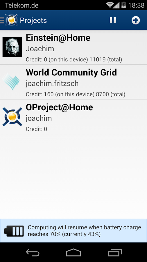 BOINC - screenshot