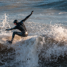surfing by Mark Usher - Sports & Fitness Surfing ( barton on sea, wet-suit, surf, hampshire )