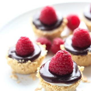 No Bake Meyer Lemon Mini Cheesecakes with Chocolate Ganache