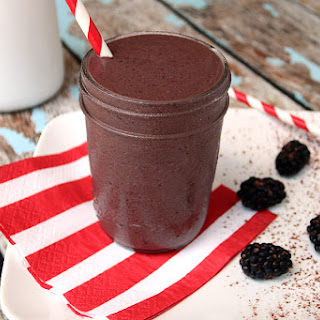 Blackberry Chocolate Shake.