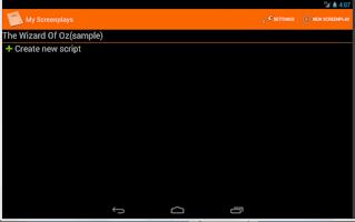 Screenshot of MyScreenplays Free