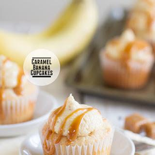 Caramel Banana Cupcakes.