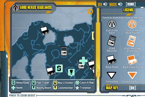 Borderlands 2 Official Map App - screenshot