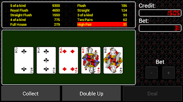 Screenshot of Video Poker Free