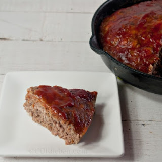 Skillet Meat Loaf With Tangy Glaze.
