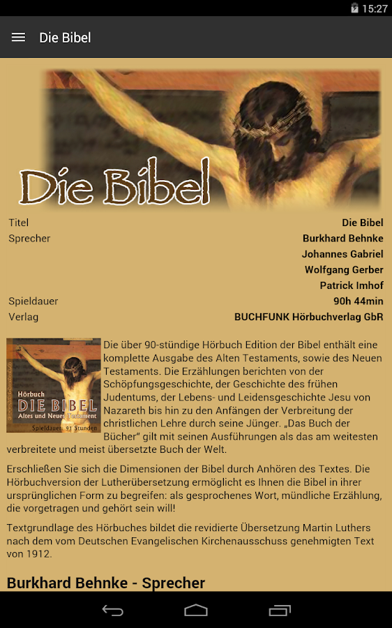Die Bibel - Hörbuch Edition- screenshot