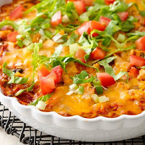 Skinny Mexican Chicken Casserole