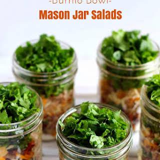 Burrito Bowl Mason Jar Salads.