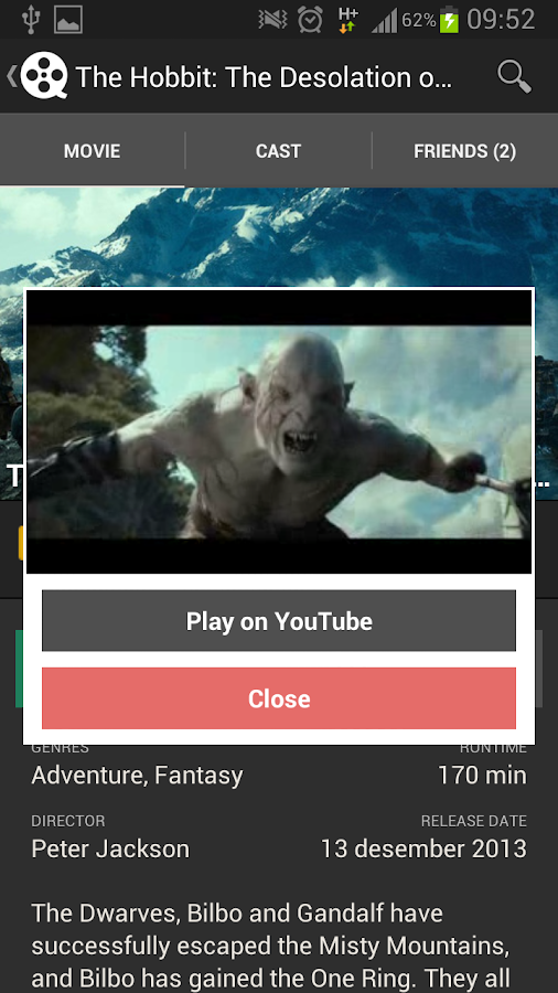 Movie Discovery by moviie.com - screenshot