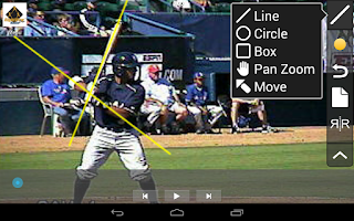 Screenshot of RVP:Baseball & Softball video