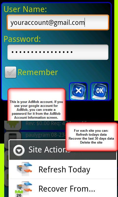 AdMob Reporting- screenshot