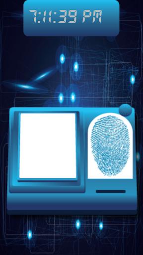 指紋ロック画面