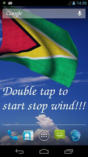 3D Guyana Flag Live Wallpaper