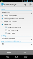 Screenshot of Resizable Contacts Widget Pro