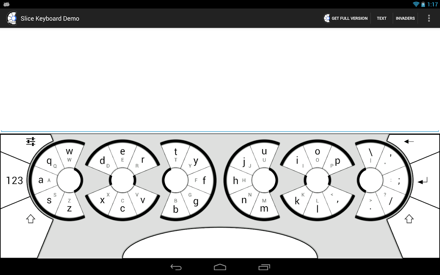 Slice Keyboard Demo- screenshot