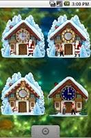 Screenshot of Christmas House Clock widget