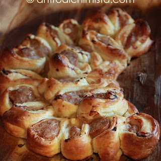Half-moon Puff Pastry with Sausage.