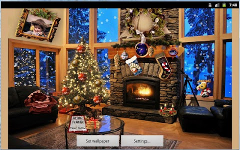 Christmas Fireplace LWP Full v1.13