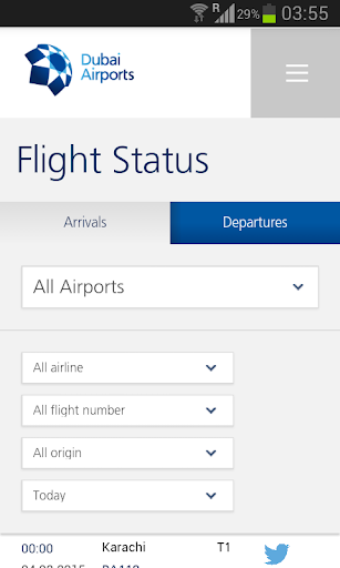 Dubai Flight Status DXB