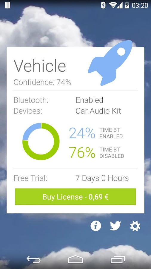 Bluetooth and SMS in Car Trial- screenshot