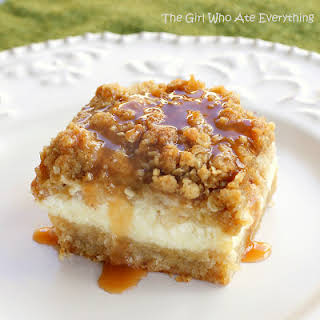 Caramel Apple Cheesecake Bars.