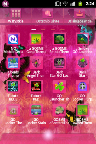 GOLauncher Theme Pink Cute Buy - screenshot