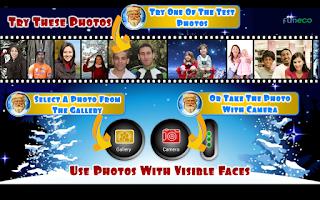 Screenshot of Photo talks Christmas