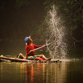 Water Play by Andreas Sugiarto - People Professional People