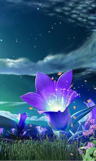 发光的花朵动态壁纸