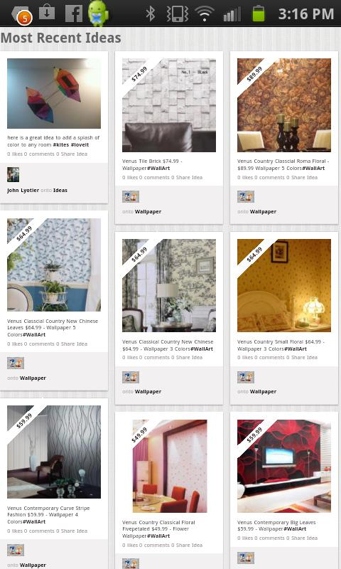 HomeDecor.com + Pinterest + FB - screenshot