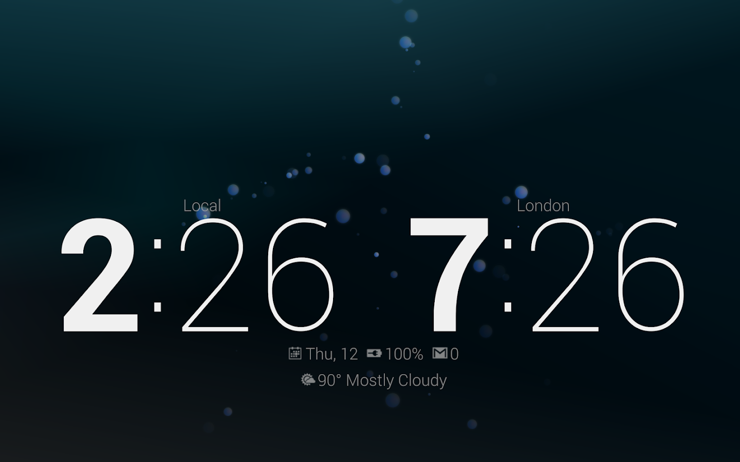 Dock Clock Plus (Night/Desk) - screenshot