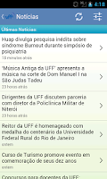 Screenshot of UFF Mobile