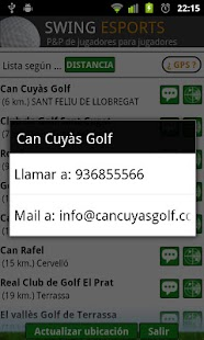 swing golf, campos y asistente - screenshot thumbnail