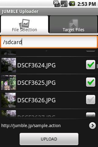 JUMBLE Uploader- screenshot