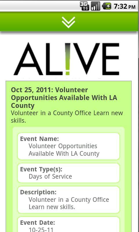 AL!VE - Volunteer Engagement- screenshot