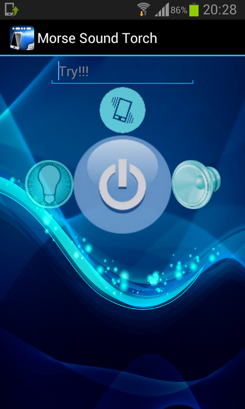 Morse Sound Torch: captura de pantalla