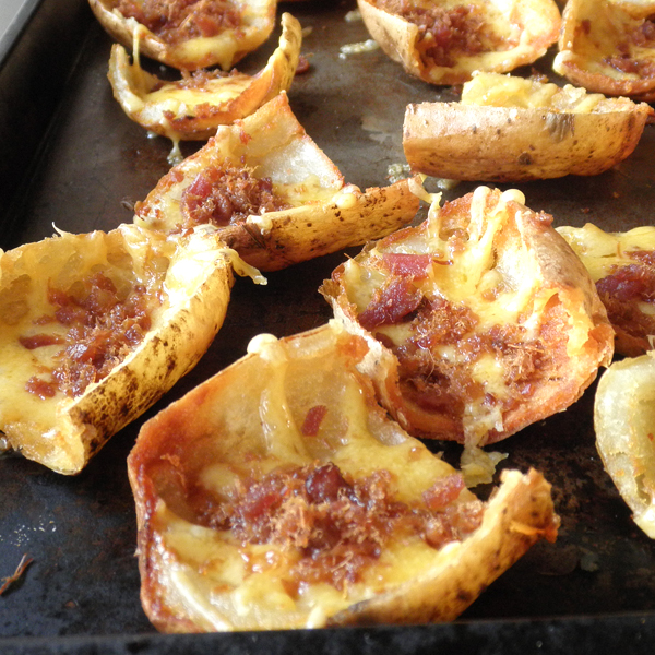 Potato Skins with Sour Cream Recipe