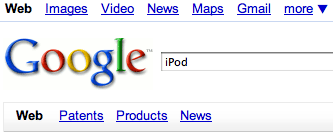 Google search iPod