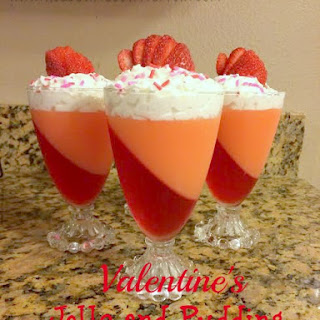 Valentine's Jello Pudding Dessert