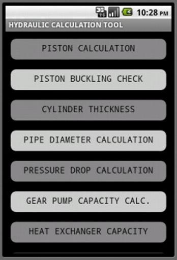 Hydraulic Calculation Tool