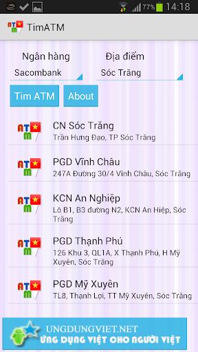 Tìm ATM Tim ATM