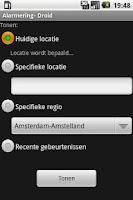 Screenshot of AlarmeringDroid (1.5 versie)