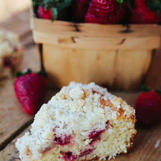 Strawberry Coffeecake with Lemon Streusel