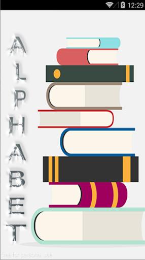 English alphabet AZ
